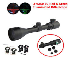 Hunting Rifle Scope 3-9x50E Red Green Dot Illuminated Airsoft Sight RifleScopes