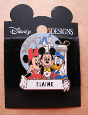 VINTAGE DISNEY DESIGNS ELAINE PERSONALIZED NAME PIN ©DISNEY  ON CARD!