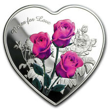LOVE Rose Metal Commemorative Coin Collection Crafts Gifts-Silver-NEW