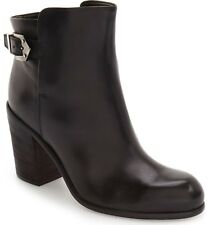 NEW $455 AGL Lindsey Block Heel Bootie in Black [SZ 40 ] ~Made in Italy~ #JR