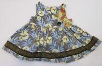 Matilda Jane Vintage Platinum Criss Cross Top Floral Size 4 Rare HTF!