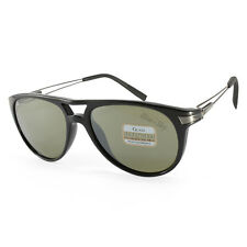 Serengeti Udine 7756 Shiny Black/Green Polarised Unisex Sunglasses