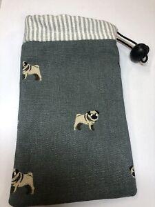 sophie allport Pug fabric Dog Treat Bag/ Poo Bag Holder