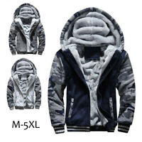Fashion Mens Boys Fur Lined Winter Thick Jacket Coat Hoodies Hooded Outwear Tops