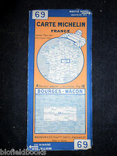 Vintage 1927 French Michelin Map of Bourges-Macon (Feuille 69/Carte de France)