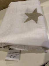 Aden +Anais Baby Organic Cotton Muslin Swaddle Blanket-Stars
