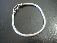 Sterling Silver Cable Herringbone Bracelet Summer Clearance Estate Closeout Sale