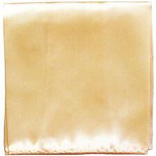 MANZO Men's Polyester Shiny Finish Pocket Square Hankie Only Moon Light Yellow