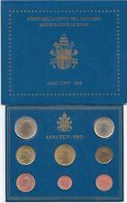 2002 Vaticano Vatican Vatikan Set Divisionale Euro 8 Monete Giovanni Paolo II