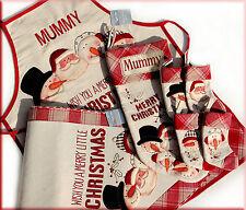 Personalised Christmas Character Stocking, Set of 4 Mini Stockings, Apron/Gift