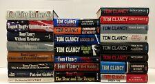 BUILD A LOT : Tom Clancy Jack Ryan Series Hardcover Books : CHOOSE TITLES