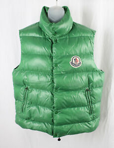 Moncler Men's Green Zip Front Puffer Vest Size 6