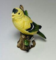 Vintage Lefton China Porcelain Gold Finch Figurine