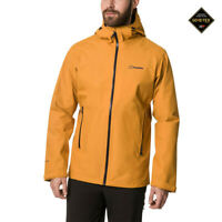 Berghaus Mens Ridgemaster GORE-TEX Jacket Top - Yellow Sports Outdoors Full Zip
