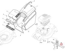 Mountfield SP425 Petrol Lawnmower Cutting Blade 181004341/3 2014 Model