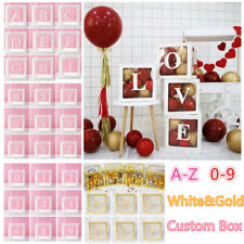Transparent Box Letter A-Z Number 0-9 Balloon Baby Shower Birthday Party Decor