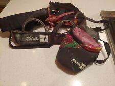 Vintage Metolius Rock Climbing Harness And Chalk Bag