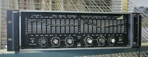 Peavey Graphic Stereo 10 BAND EQ AUDIO EQUALIZER VINTAGE RACK TESTED WORKING