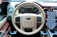 2009 2010 Ford F-250 F-350 Lariat-Leather Steering Wheel Cover w/Needle & Thread