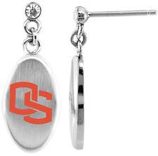 OREGON STATE BEAVERS OSU * Stainless Steel Dangle Earrings w/CZ * NCAA Jewelry