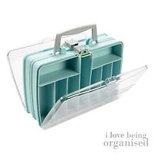 Double Creative Options Sided Blue Satchel Storage Box