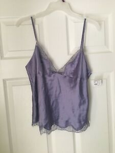 NWTS Fredrick's of Hollywood Cami Tank Lavender Polyester Lace Sz Large