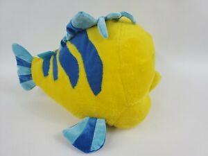 "Disney Little Mermaid Flounder Fish Huge 16"" Plush Stuffed Fish Pillow"