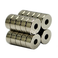 80pcs Super Strong 20mm x 4mm Disc With 5mm Hole Neodymium Disc Hole Magnets
