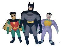 VINTAGE Batman Robin & The Joker Plush/Stuffed LOT - Justice League / DC Comics