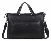 Men's Geniune Leather Briefcase Business Messenger Shoulder 14 15 Laptop Bag New