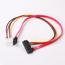 7+15 22 Pin Power/Data Sata to 4-Pin IDE Molex & Sata Port Connector Combo Cord