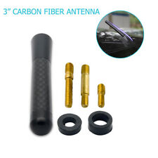 Car Bee-sting Stubby Short Black Carbon Fibre Aerial Ariel Arial Antenna New