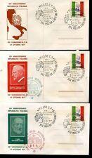 Italia 25° della Repubblica 3 buste con erinnofilo