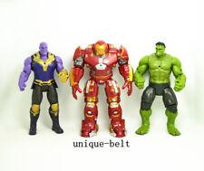 Lot 3 pcs New Avengers: Infinity War Hulkbuster Hulk Thanos action figures Toy