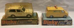 Dinky Range Rover Ambulance and Beford AA Van