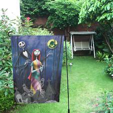 Outdoor Living Garden Decor Skull Jack And Sally Weatherproof Garden Flag