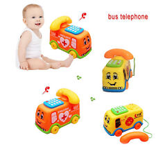 Hot Baby Toys Music Cartoon Bus Phone Educational Developmental Kids Toy Gift
