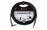 JOYO CM-12 15ft Guitar Lead 6.3mm right angle to 6.3mm male jack shielded cable