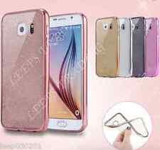 Brillante Silicona Purpurina Funda de Teléfono Samsung Galaxy S6 S7 S8+ Edge A3