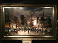 Evening In Paris - Oil Painting By Robert Lebron