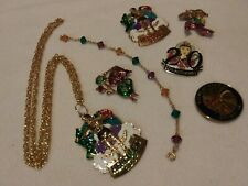 New listing Junk Drawer Vintage Rare Lot Collection Antique Old Mardi gras louisiana