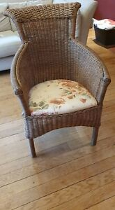 Wicker chair used