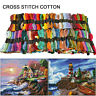 447X Cross Stitch Cotton Embroidery Sewing Skeins Thread Assorted Color Floss.