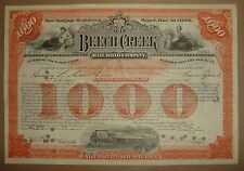 Beech Creek Railroad Company Bond Stock Certificate Pennsylvania NY Central