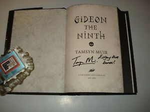 Signed & Lined Tamsyn Muir Gideon The Ninth US 1st/1st Black Edges