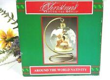 Vintage House Of Lloyd Around The World Nativity Christmas Scene Ornament 1993