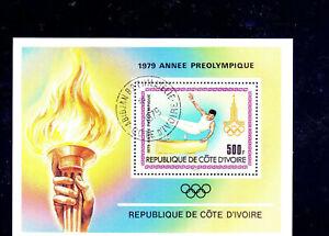 IVORY COAST #527  1979  PRE-OLYMPICS    MINT  VF NH  O.G   S/S  CTO   c
