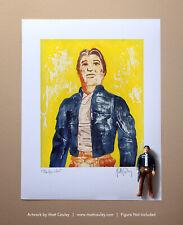 Star Wars BESPIN HAN SOLO Vintage Kenner Action Figure ORIGINAL ART PRINT 3.75