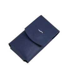 S.T. Dupont Leather Case Pouch For the Slim 7 Lighter, Blue, 183063, New In Box