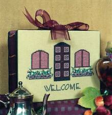 Liberty Street Designs WELCOME TO OUR HOME Cross Stitch Chart ~ door / window